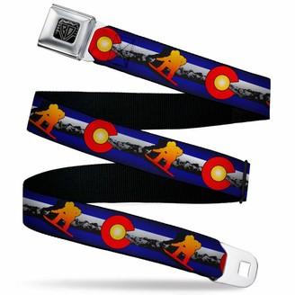 Buckle Down Buckle-Down Men's Seatbelt Belt Colorado Kids