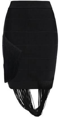 Herve Leger Fringed Bandage Mini Skirt