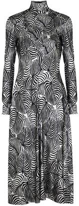 Paco Rabanne Kaiya silver and black lame dress