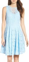 Julian Taylor Womens Sleeveless Lace Fit and Flare Dress