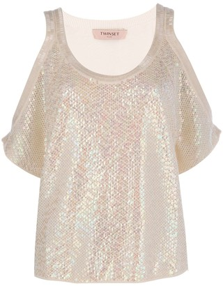 Twin-Set Sequinned Top