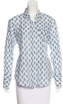 Nili Lotan Printed Button-Up Top