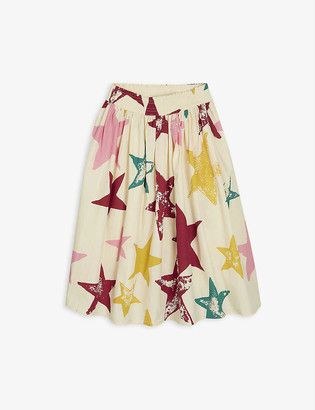 Molo Bree star-print organic-cotton midi skirt 3-12 years
