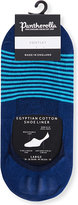 Pantherella Striped Egyptian Cotton-blend Liner Socks