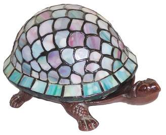 Warehouse Of Tiffany Tiffany Style Turtle Accent Lamp