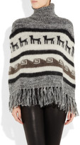 Joseph Mohair and wool-blend poncho