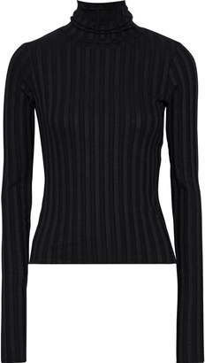 Simon Miller Rico Ribbed Stretch-micro Modal Turtleneck Sweater