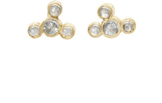 Lily Flo Jewellery Diamond Cluster Stud Earrings On Solid Gold