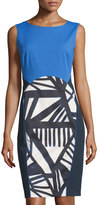 Lafayette 148 New York Dixie Striped Sleeveless Dress, Ink/Multi