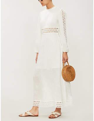 Zimmermann Verity long-sleeved linen maxi dress