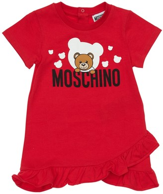 Moschino Logo Print Cotton Interlock Dress