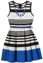 Knitworks Girls 7-16 & Plus Size Striped Skater Dress