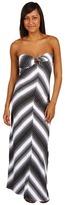 Roxy Desert Beach Strapless Dress (True Black) - Apparel