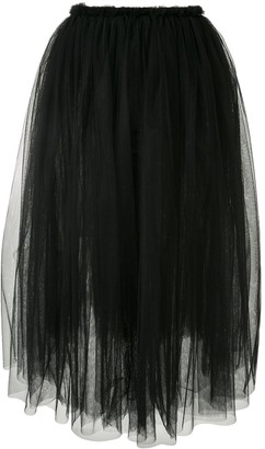 Comme des Garcons High-Waisted Pleated Tulle Skirt