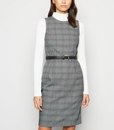 New Look Check Sleeveless Belted Dress