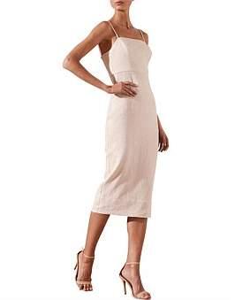 Shona Joy Aluaro Fitted Midi Dress