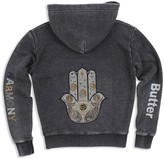 Butter Shoes Girls' Sparkle Harmony Embellished Hoodie