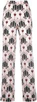 Valentino Love Dagger trousers - women - Silk - S