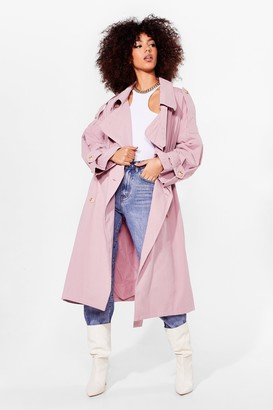 Nasty Gal Womens Cover Your Basics Belted Trench Coat - Pink