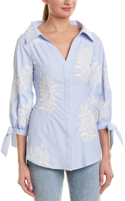 Alice + Olivia Embroidered Blouse