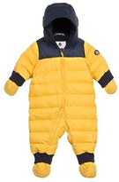 Petit Bateau Unisex baby down and feathers snowsuit in a colorblock style