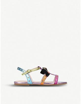 Kurt Geiger London Luminate rainbow metallic faux-leather sandals 3-7 years