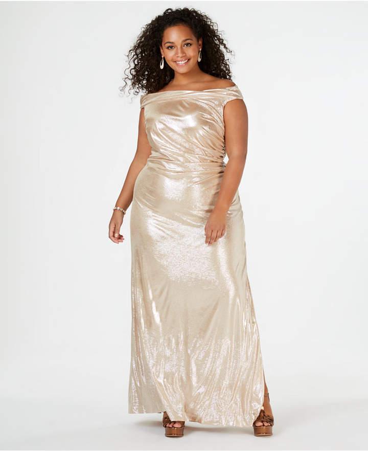 Plus Size Metalic Dress - ShopStyle