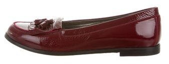 Bonpoint Girls' Patent Leather Kiltie Loafers