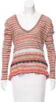 M Missoni Striped Knit Top