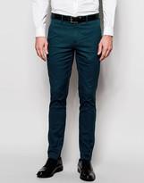 Devils Advocate Devil's Advocate Skinny Fit Satin Suit Pant
