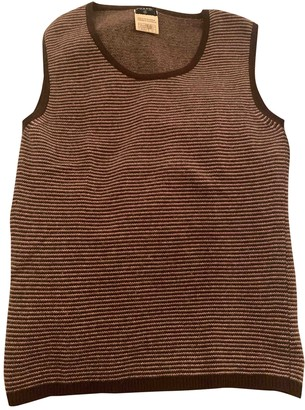 Chanel Brown Cashmere Top for Women Vintage