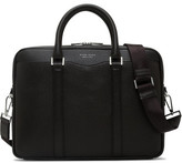 HUGO BOSS SIGNATURE EMBOSSED LEATHER SINGLE ZIP BRIEFCASE