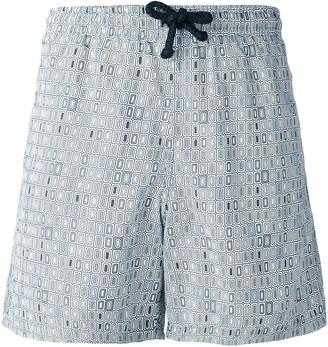 Fashion Clinic Timeless Geometric Print Swim Shorts