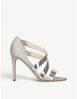 Nine West Idella metallic faux-leather heeled sandals