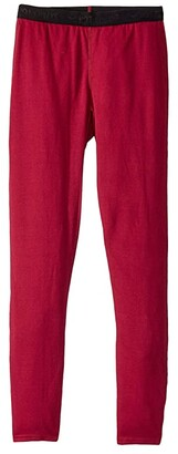 Hot Chillys Kids Pepper Bi-Ply Bottom (Toddler/Little Kids/Big Kids) (Cranberry) Girl's Clothing