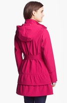 Betsey Johnson Tiered Hem Soft Shell Coat (Online Only)