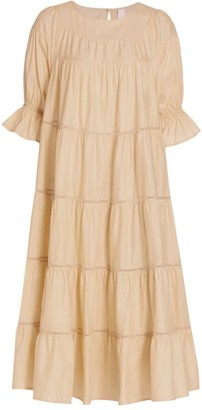Merlette New York Paradis Tiered Midi Dress