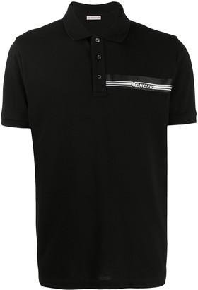 Moncler Logo-Print Cotton Polo Shirt