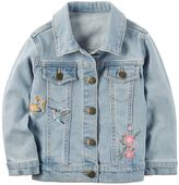 Carter's Toddler Girl Embroidered Denim Jacket