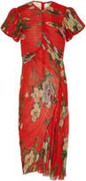 Preen by Thornton Bregazzi Ruched Georgette Midi Dress