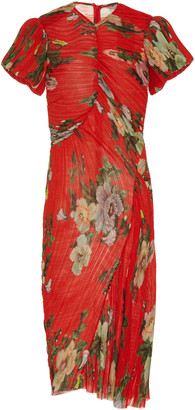 Preen by Thornton Bregazzi Ruched Georgette Midi Dress