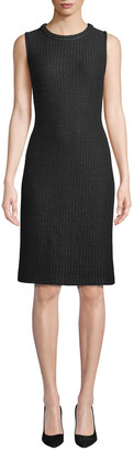 St. John Adina Knit Dress with Chain Braid Trim