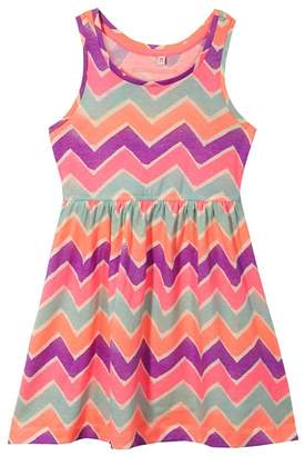 bluezoo - Girls' Multicoloured Zigzag Dress