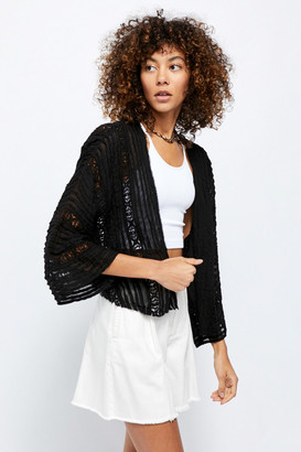 Free People Willow Lace Trim Short Duster