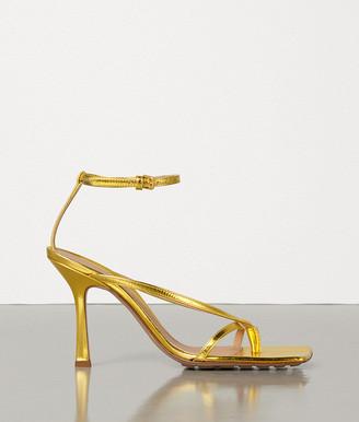 Bottega Veneta Stretch Sandals In Lame Calf
