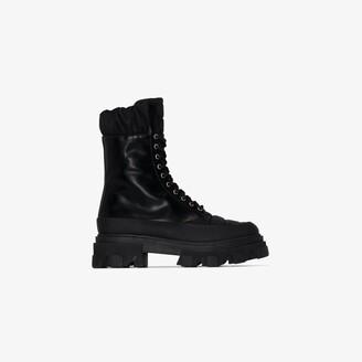 Ganni Black Chunky Combat Boots