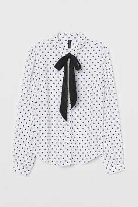H&M Tie-collar Shirt