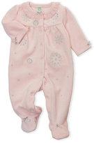 Little Me Newborn Girls) Velour Snowflake Footie