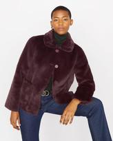 Jigsaw Faux Fur Box Coat