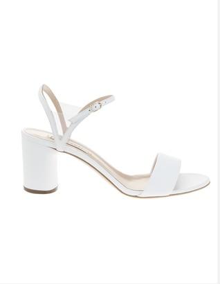 Casadei White V Celebrity Midi Sandal